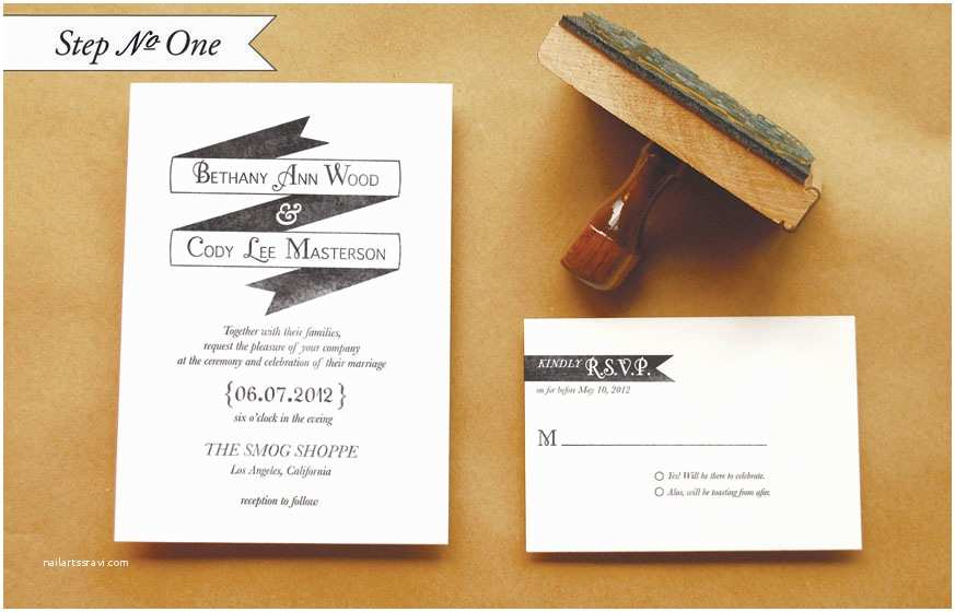 "Wedding Invitation Rubber Stamps Diy Rubber Stamp ""banner"" Wedding Invitations"