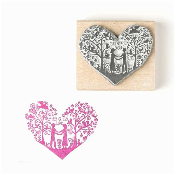 Wedding Invitation Rubber Stamps Personalised You and Me Heart Save the Date Stamp or