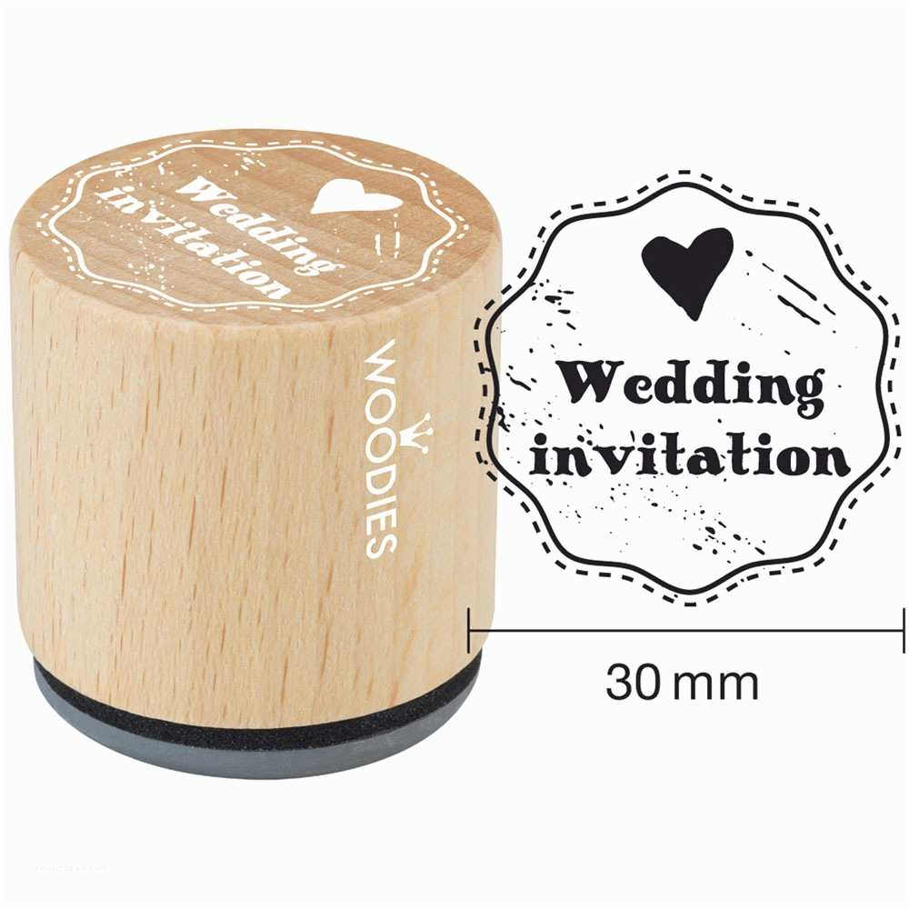 """Wedding Invitation Rubber Stamps Woo S Mounted Rubber Stamp 1 35"""" Wedding Invitation"""
