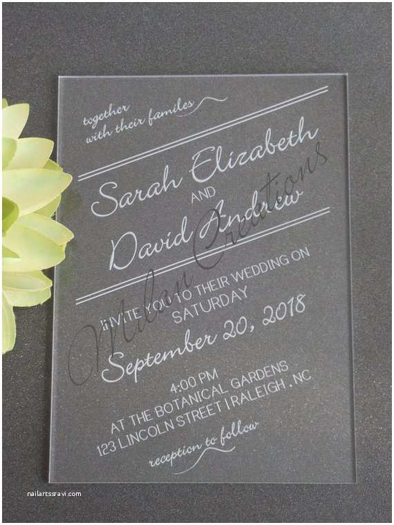on sale acrylic wedding invitations in