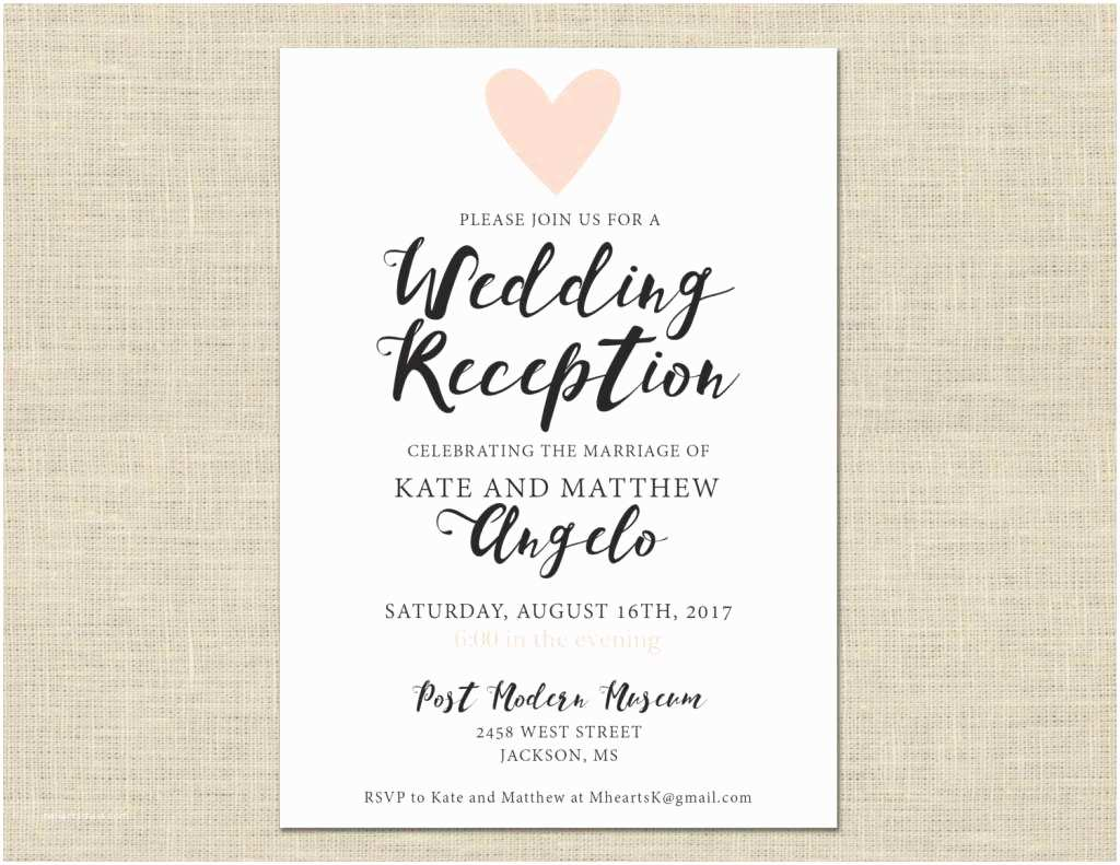 Wedding Invitation Sample Wording Casual Wedding Invitation Wording