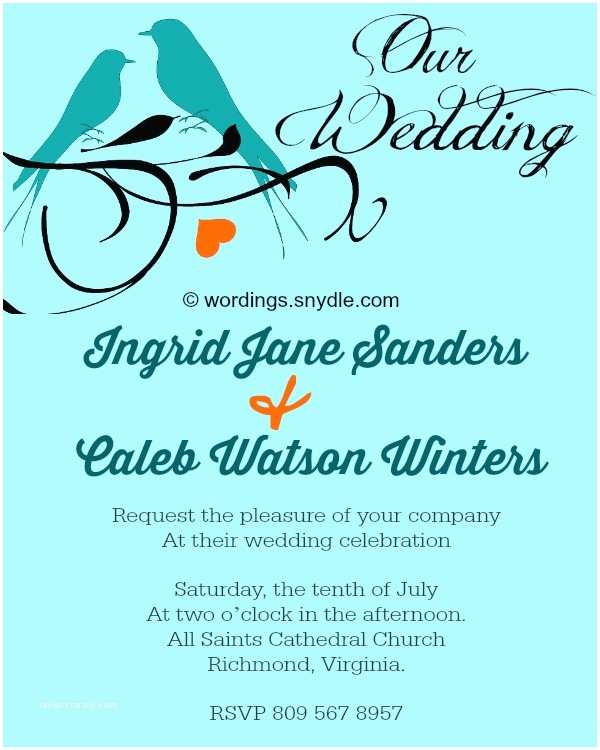 Wedding Invitation Sample Wording Informal Wedding Invitation Wording Samples Wordings and