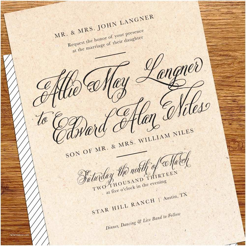 Wedding Invitation Sample Wording Simple with Casual Wedding Invitation Wording — Criolla