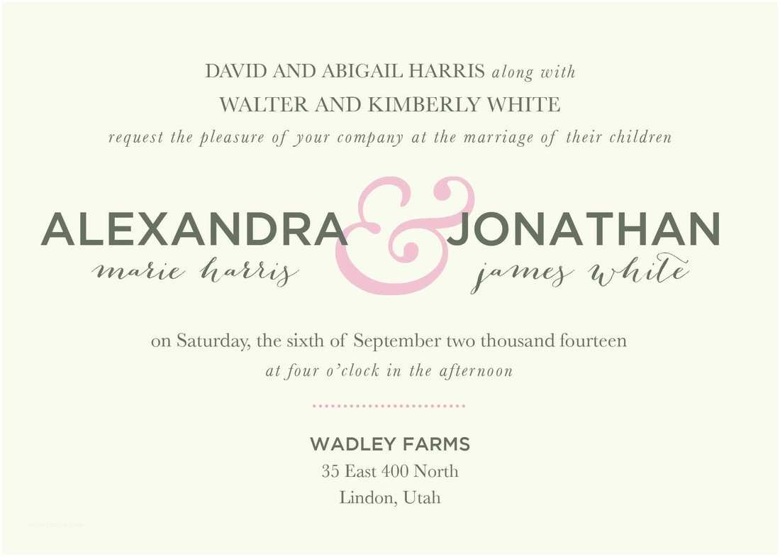 Wedding Invitation Sample Wording Wedding Invitation Wording Ideas