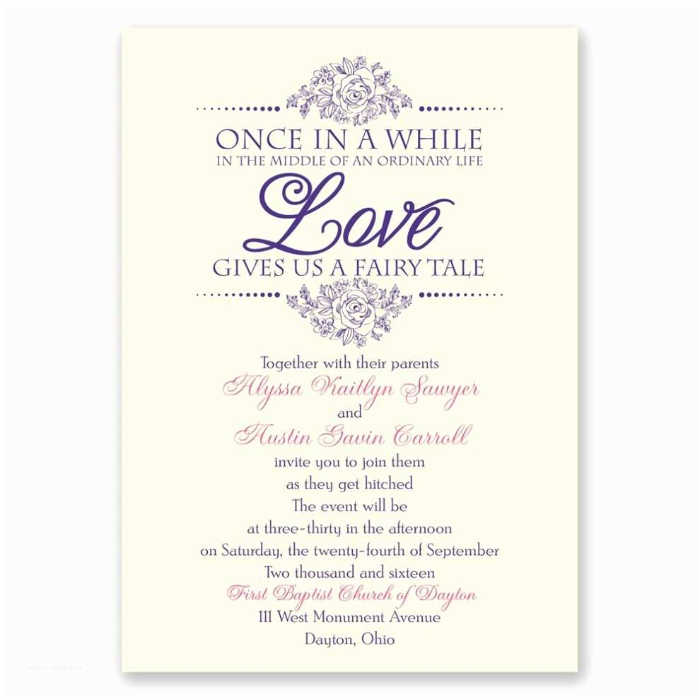 Wedding Invitation Sample Wording Wedding Invite Wording