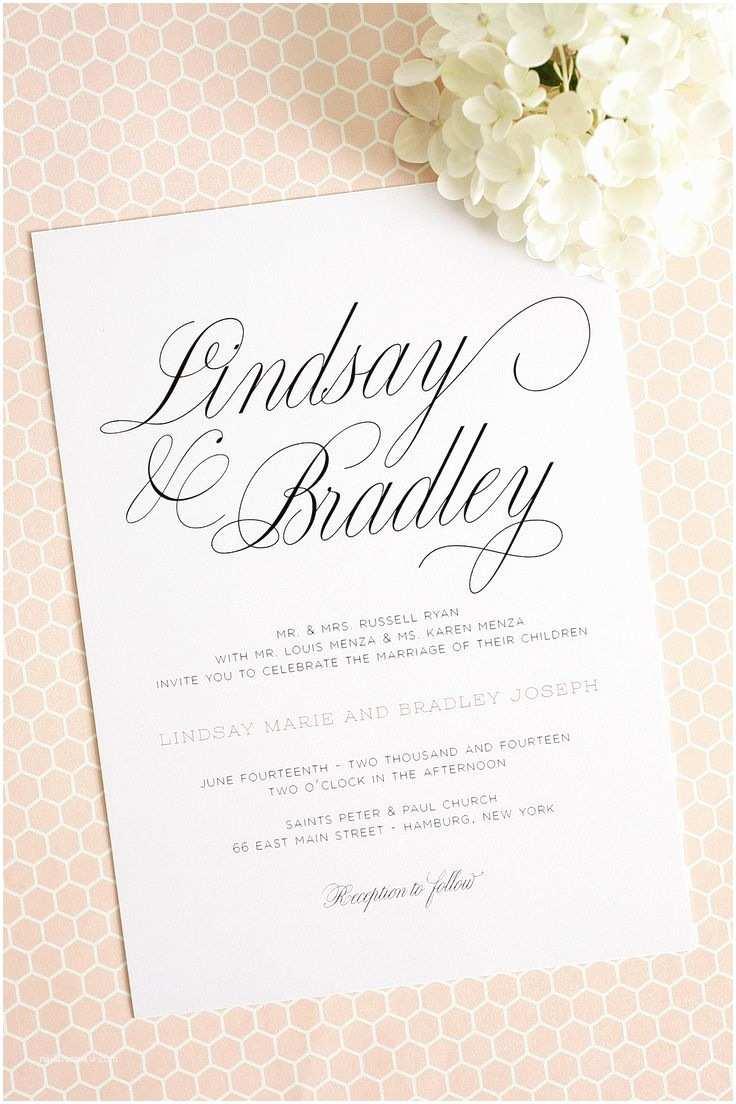 Wedding Invitation Script 25 Best Ideas About Simple Wedding Invitations On