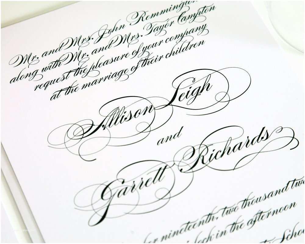 Wedding Invitation Script All Script Wedding Invitation Classic Elegant Design On