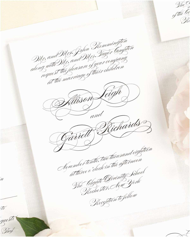 Wedding Invitation Script Elegant Script Wedding Invitations Wedding Invitations