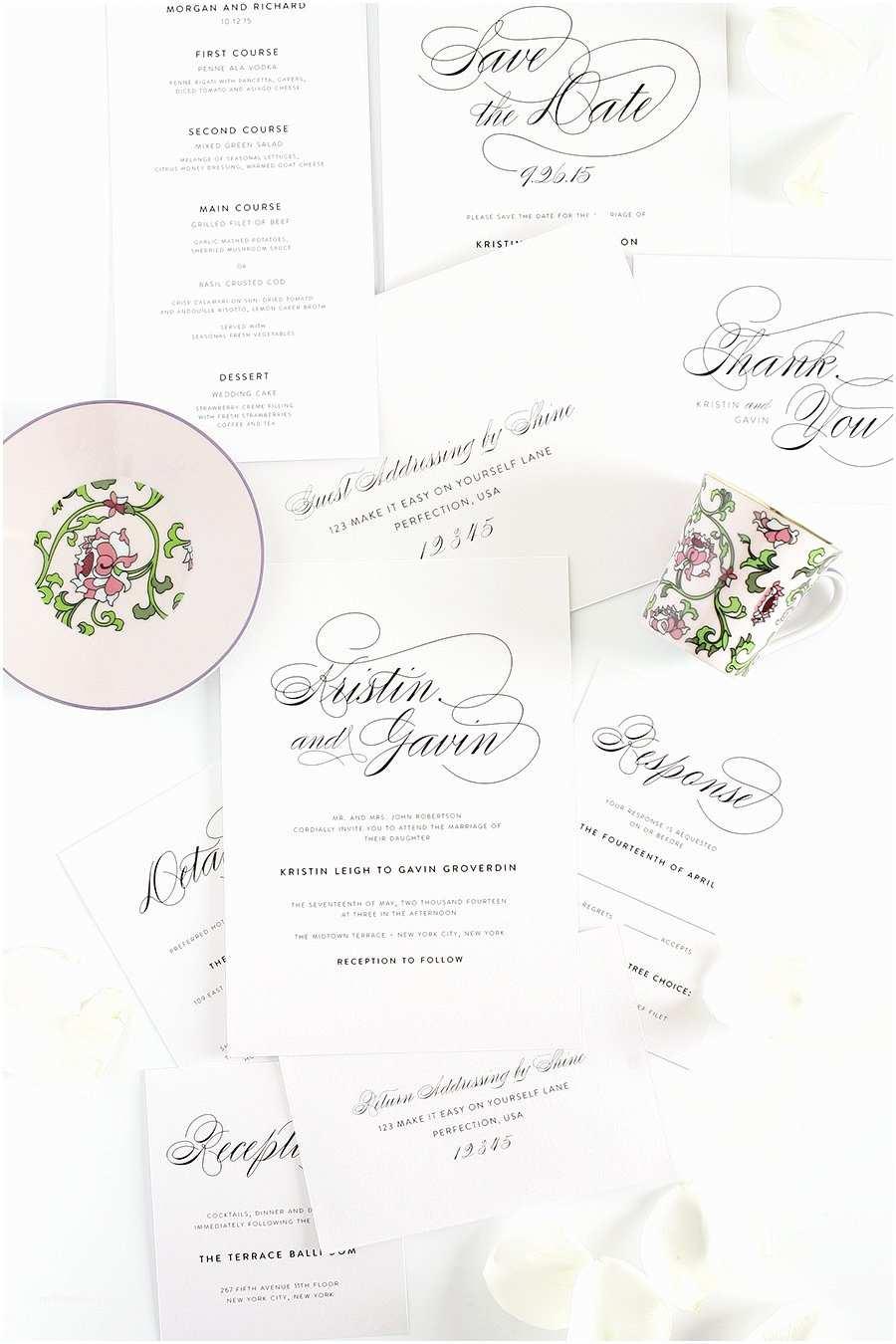 Wedding Invitation Script Vintage Script Wedding Invitations – Plete Package