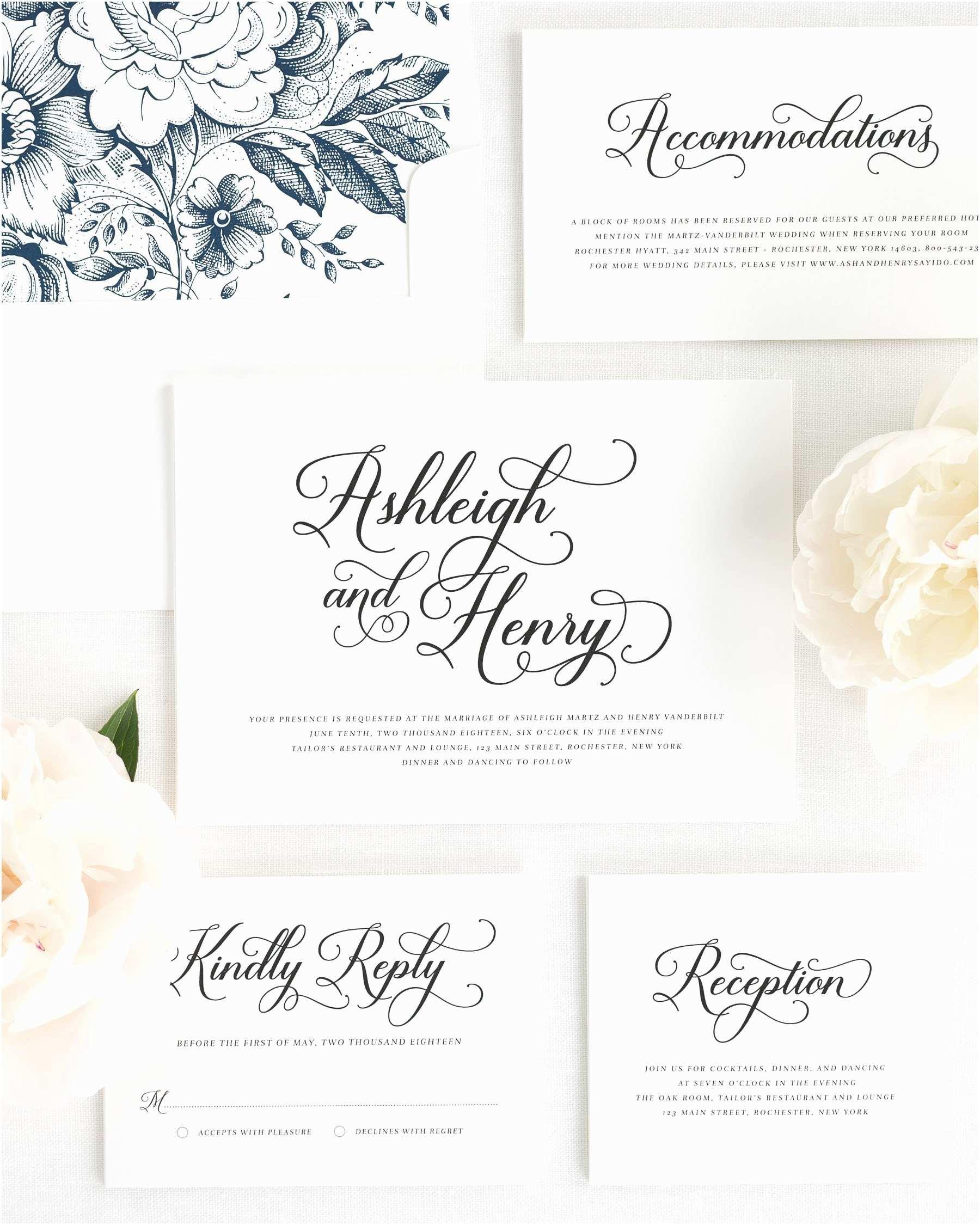 Wedding Invitation Script Vintage Script Wedding Invitations Wedding Invitations