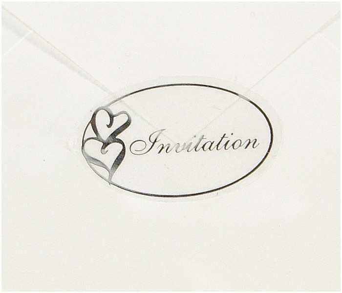 Wedding Invitation Seals 50 Pack Transparent Foil Wedding Invitations Envelope
