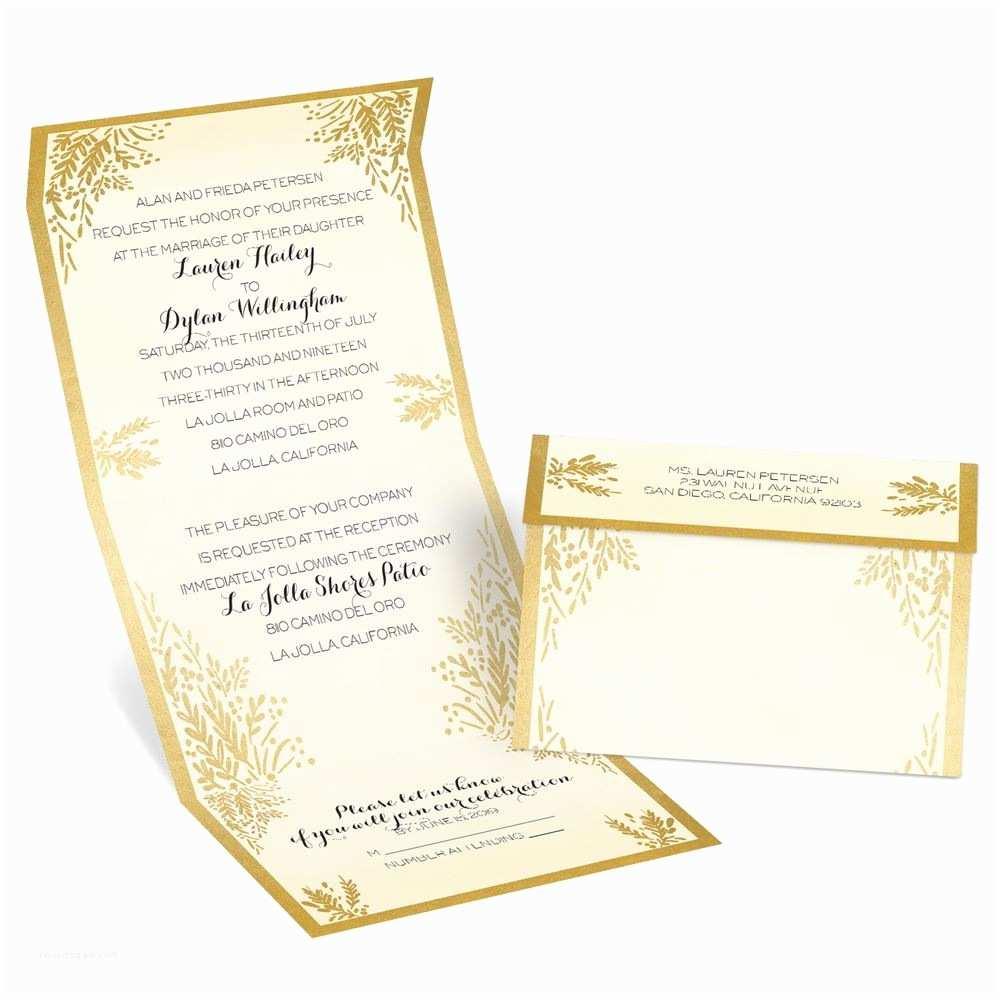 Wedding Invitation Seals Ferns Of Gold Seal and Send Invitation