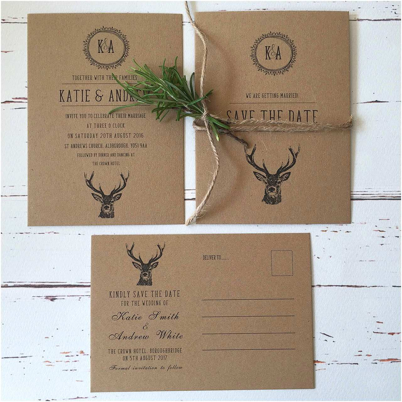 Wedding Invitation Service Rustic Wedding Invitations and Stationery Wagtail Designs