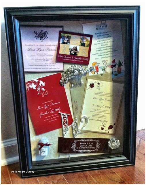 Wedding Invitation Shadow Box Create A Shadow Box Of Your Save the Date Bridal Shower