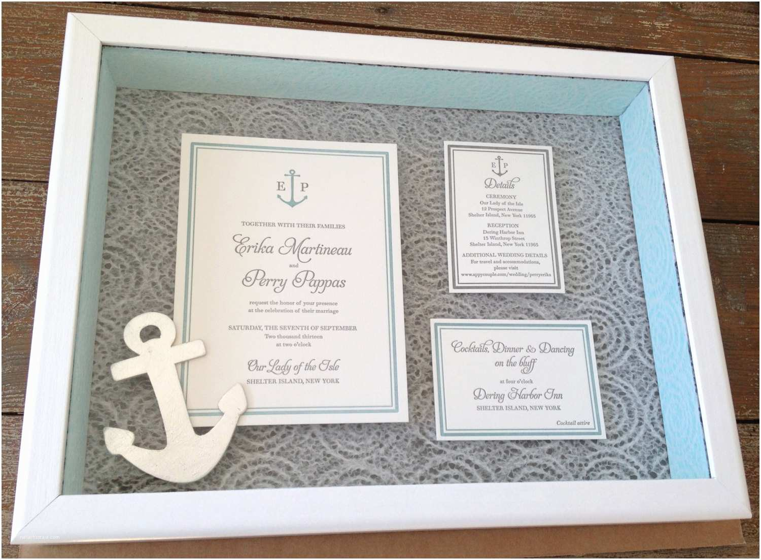 Wedding Invitation Shadow Box Custom Keepsake Wedding Invitation Shadow Box 12 X 16