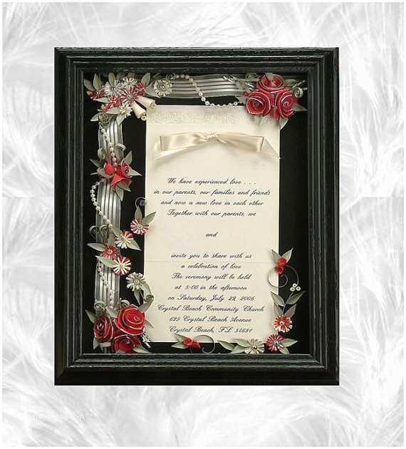 Wedding Invitation Shadow Box Framed Wedding Invitation Wedding Shadow Box Wedding T