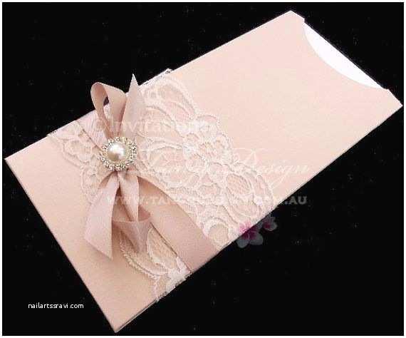 Wedding Invitation Sleeves Sleeve Pouch Pocket Wedding Invitation with Crystal