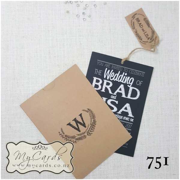 Wedding Invitation Sleeves Wedding Invitation Sleeve Printed Design 751
