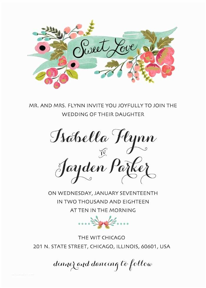 Wedding Invitation Slideshows Free Print Audrey Free Printable Wedding Invites
