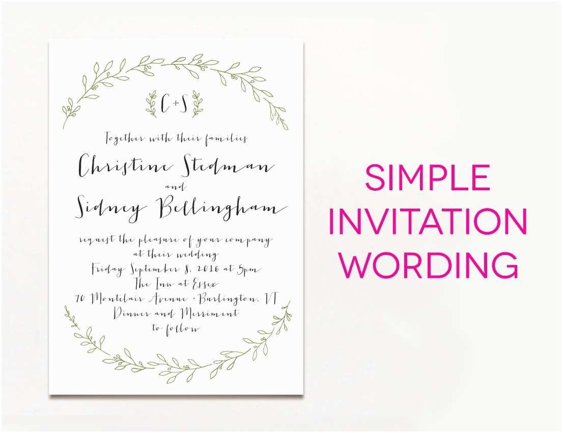 Wedding Invitation Sms 15 Wedding Invitation Wording Samples From Traditional to Fun