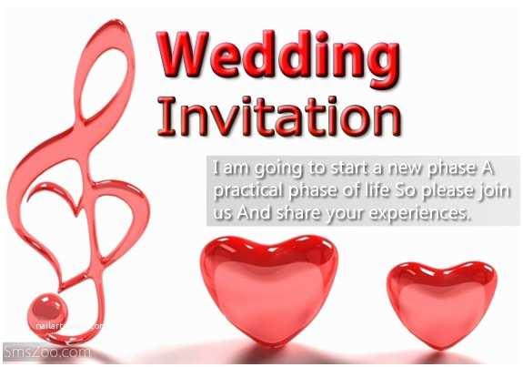 Wedding Invitation Sms Invitation Sms Choice Image Invitation Sample and