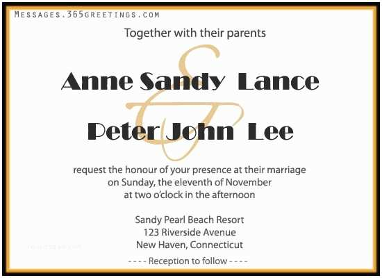 Wedding Invitation Sms Wedding Invitation Wording 365greetings