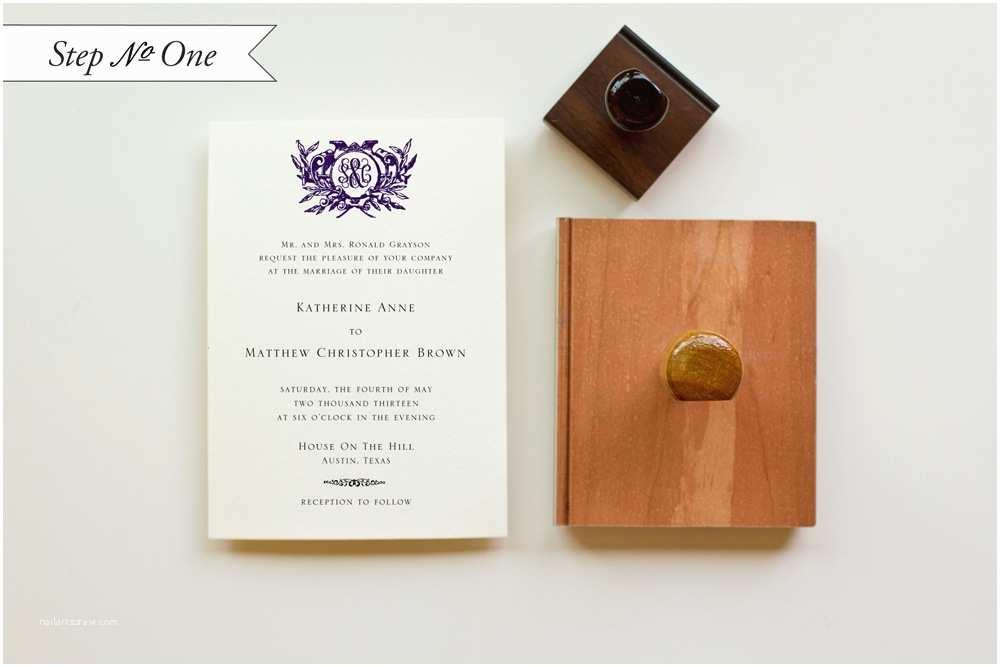 Wedding Invitation Stamps Diy Tutorial Rustic Monogram Rubber Stamp Wedding Invitations