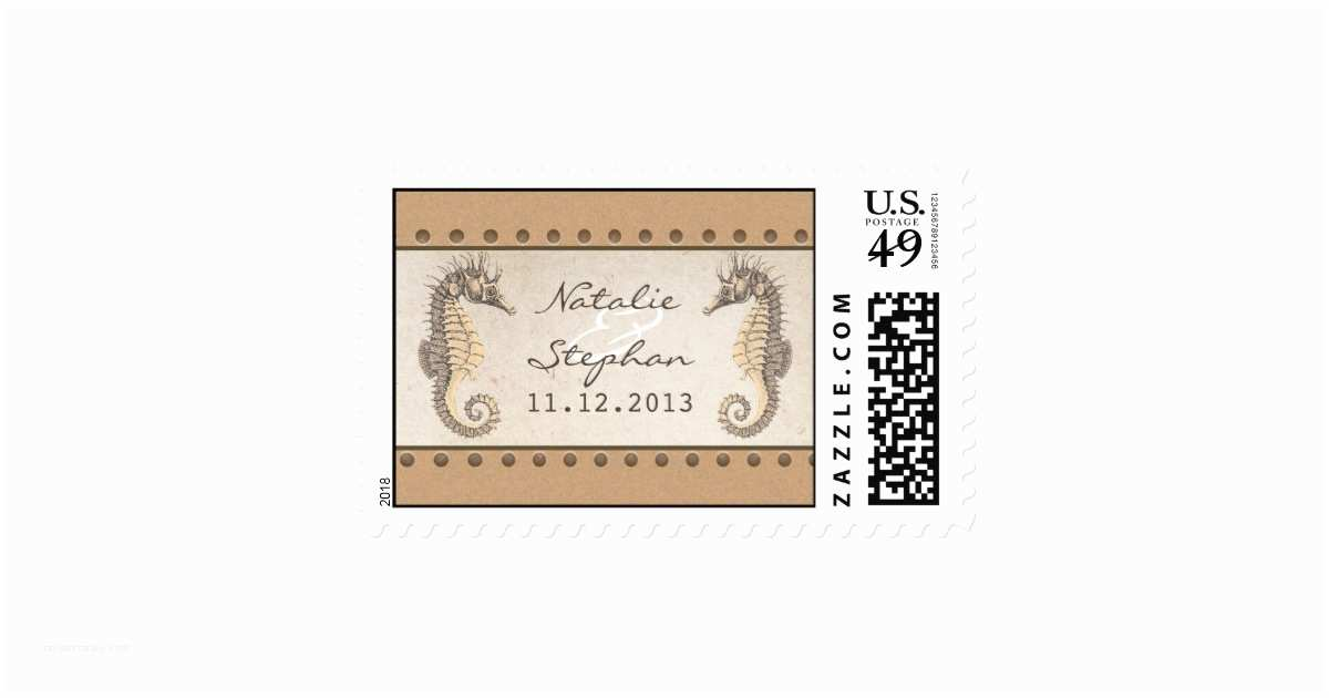 Wedding Invitation Stamps Seahorses Wedding Invitations Postage Stamps