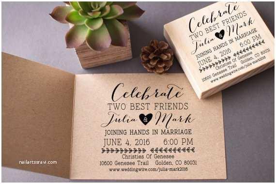 Wedding Invitation Stamps Wedding Invitation Stamp Custom Celebrate Best Friends