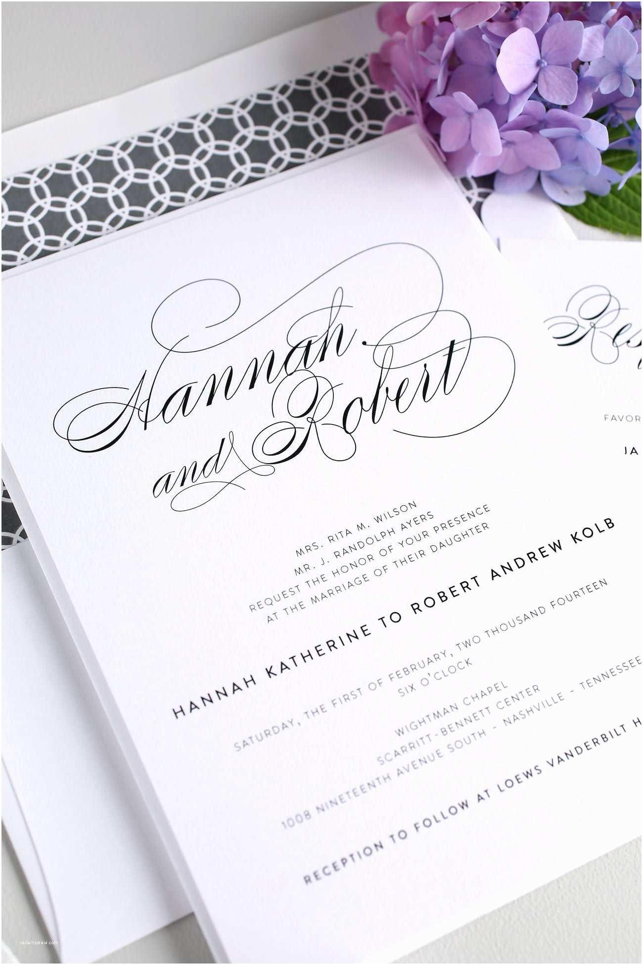 Wedding Invitation Stationery Elegant Wedding Invitations In Gray – Wedding Invitations