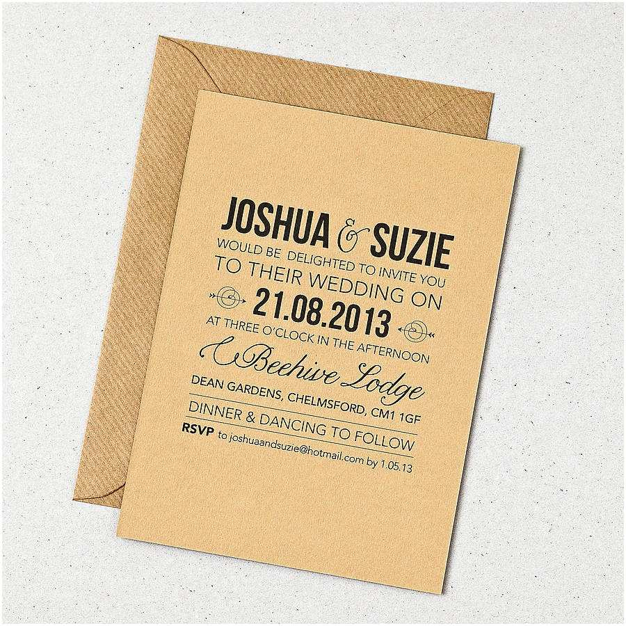 Wedding Invitation Stationery Rustic Style Wedding Invitation by Doodlelove