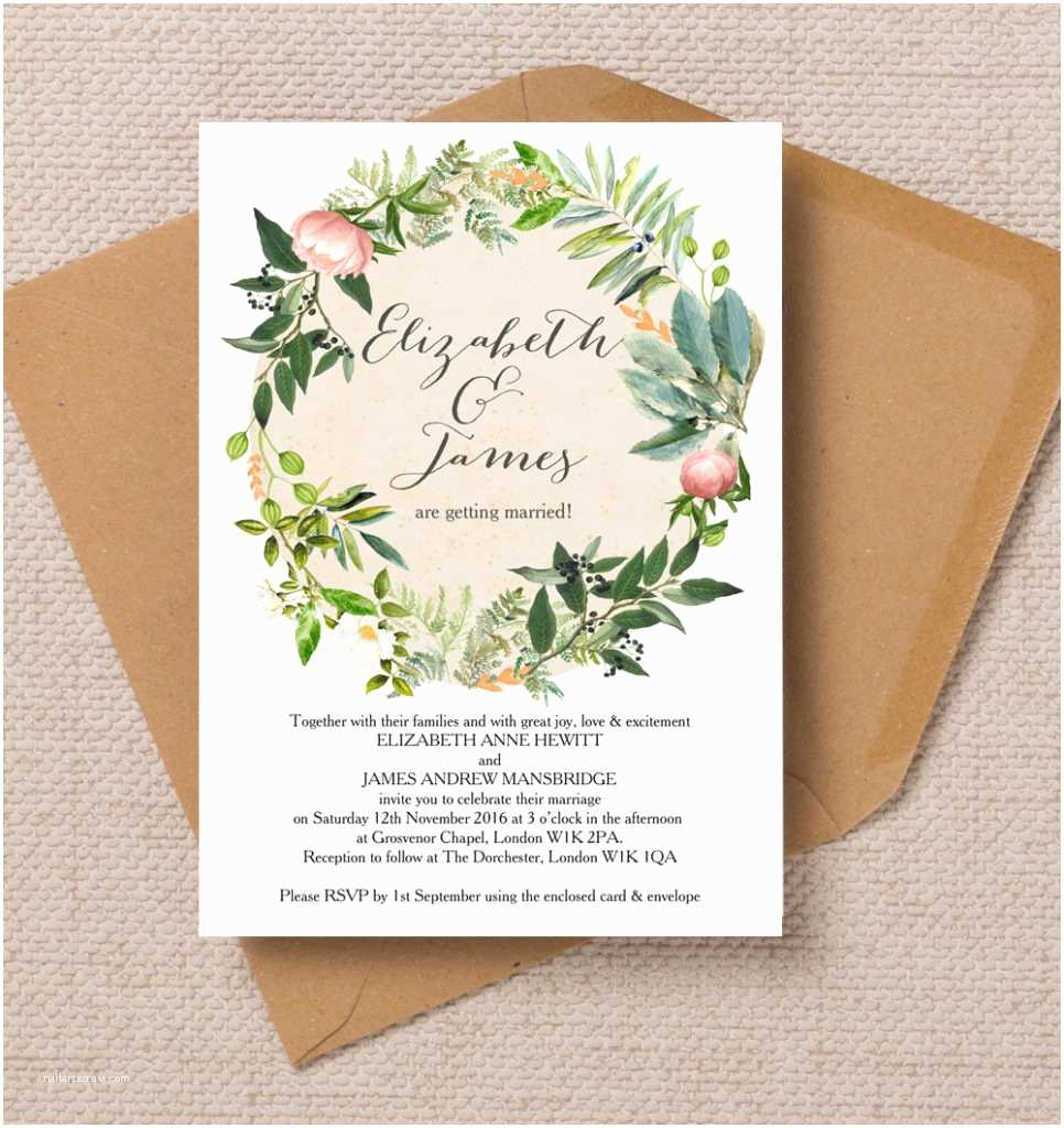 Wedding Invitation Stationery top 8 Printable Floral Wedding Invitations