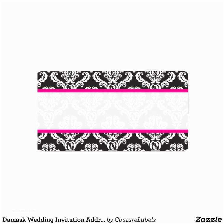 damask wedding invitation address labels