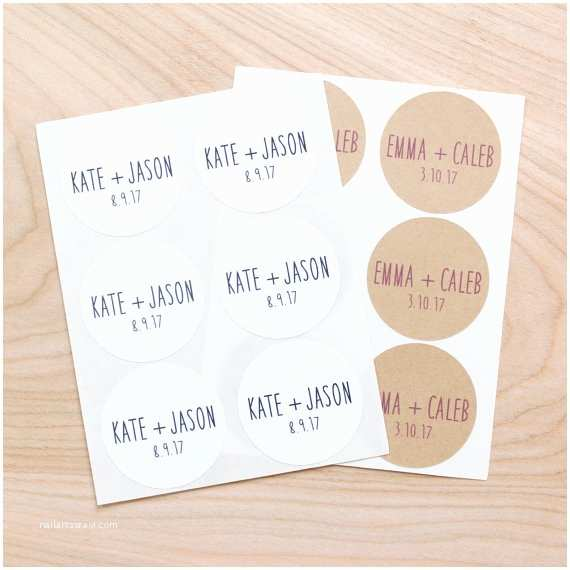 Wedding Invitation Stickers Items Similar to Custom Name and Wedding Date Stickers