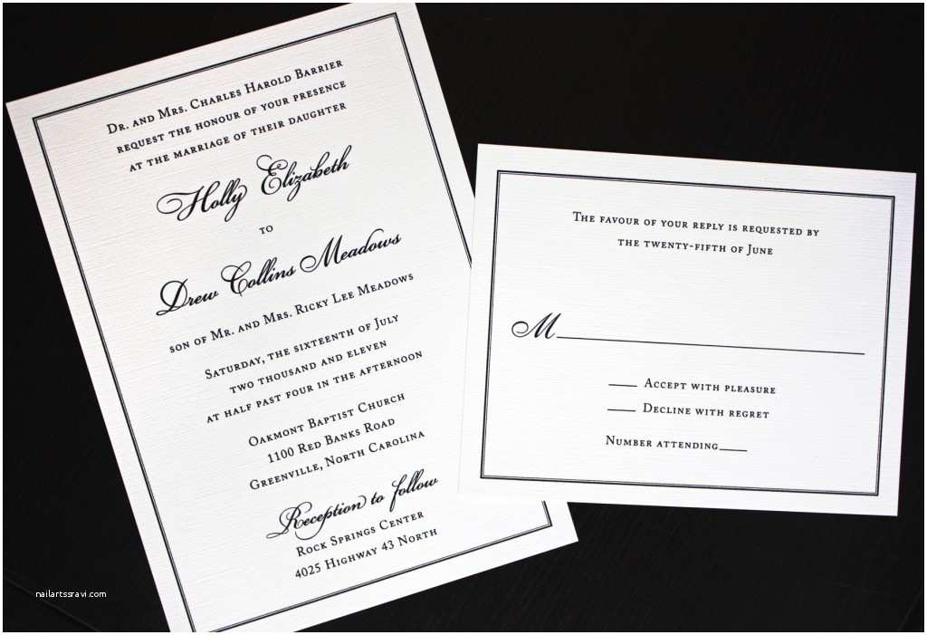 Wedding Invitation Styles Exclusive Traditional Wedding Invitation with Unique Font