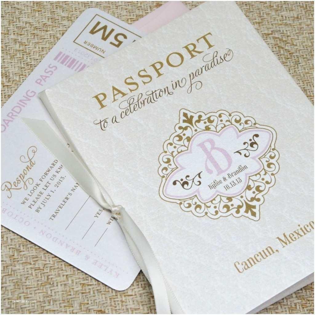 passport wedding invitations style design