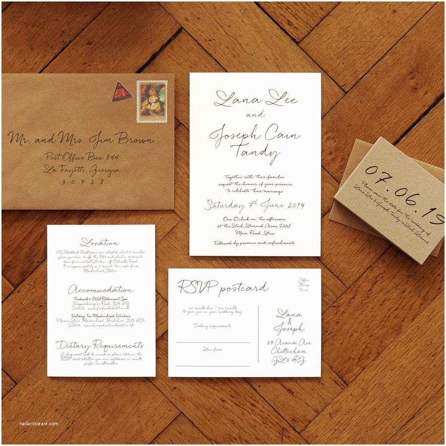 Wedding Invitation Suite Love Letter Wedding Invitation Set and Save the Date by