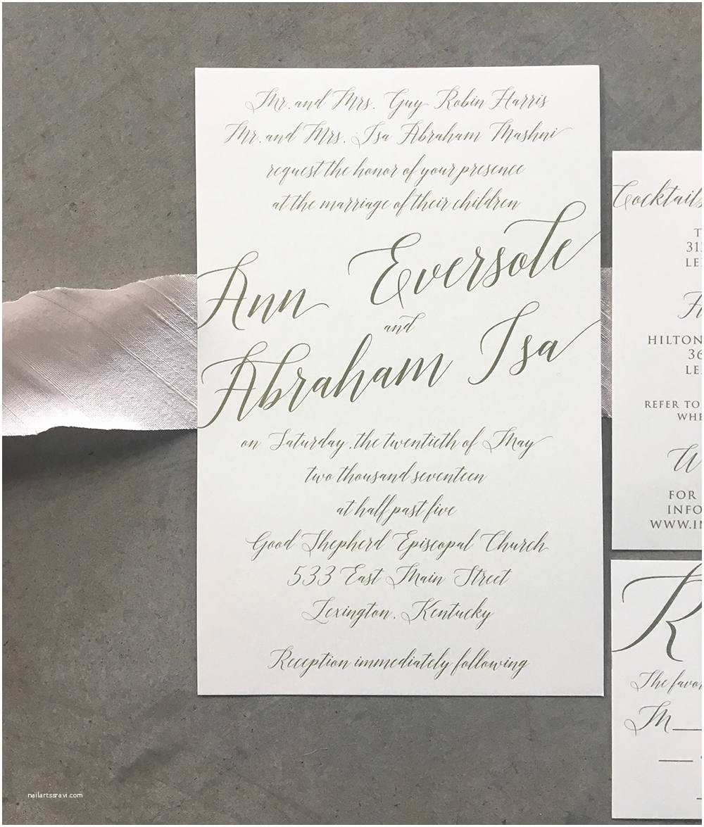 Wedding Invitation Suite Sample Modern Madeline Wedding Invitation Suite Cardinal