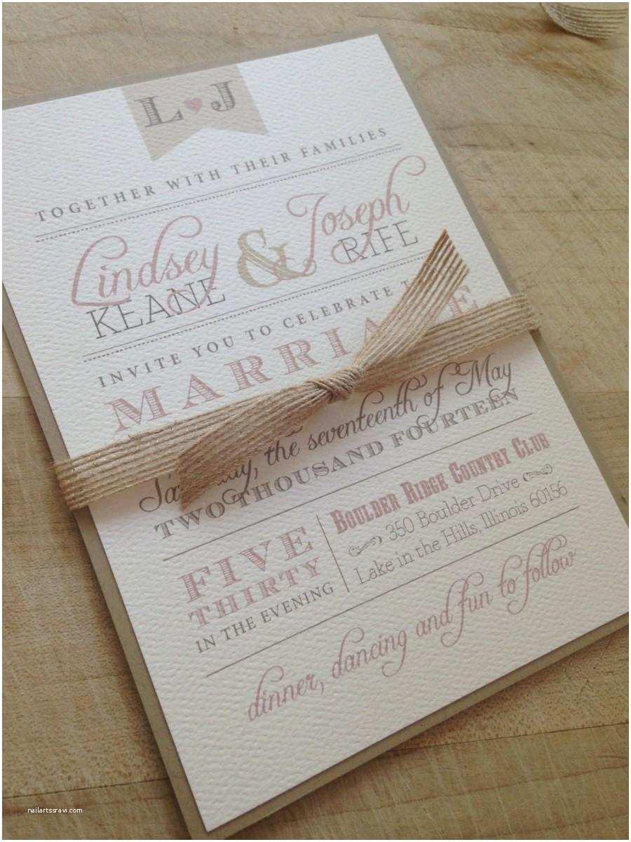Wedding Invitation Suite Wedding Invitation Suite Sample Rustic and Vintage