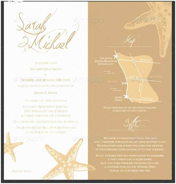 Wedding Invitation Templates Beach theme 25 Beach Wedding Invitation Templates – Free Sample