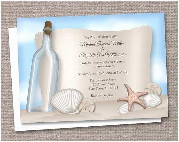 Wedding Invitation Templates Beach Theme Tropical