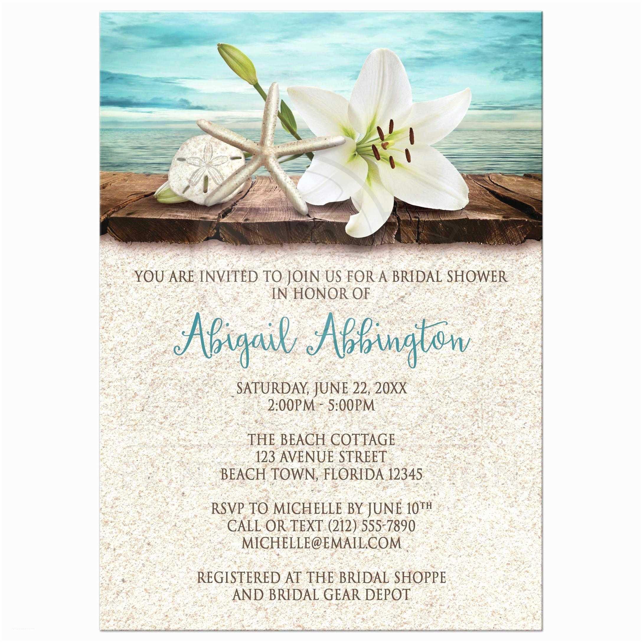 Wedding Invitation Templates Beach theme Beach theme Bridal Shower Invitations Beach themed