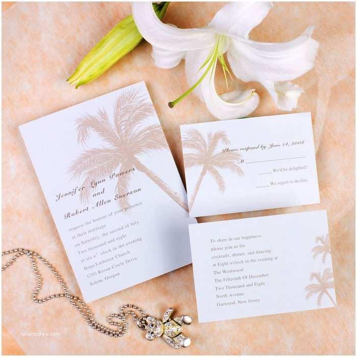 Wedding Invitation Templates Beach theme Beach theme Coconut Tree Destination Wedding Invitation