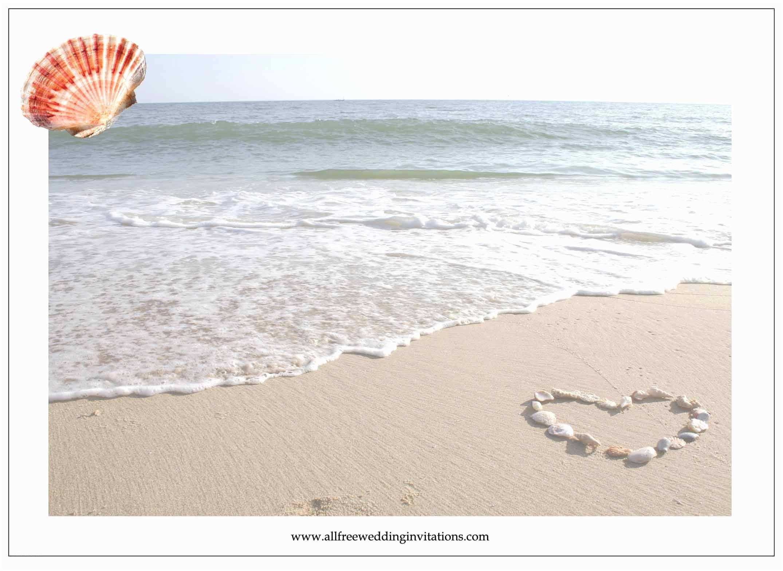 Wedding Invitation Templates Beach theme Beach Wedding All Free Wedding Invitations