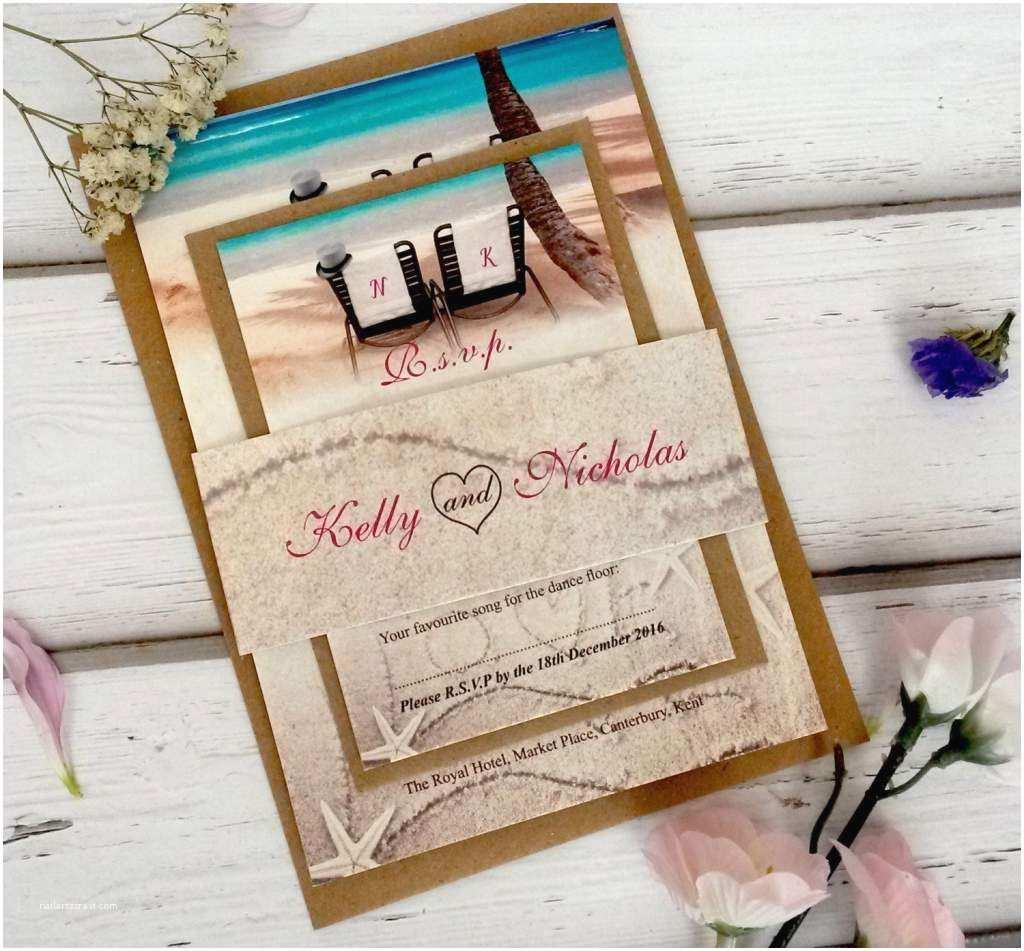 Wedding Invitation Templates Beach theme Beach Wedding Invitation Templates