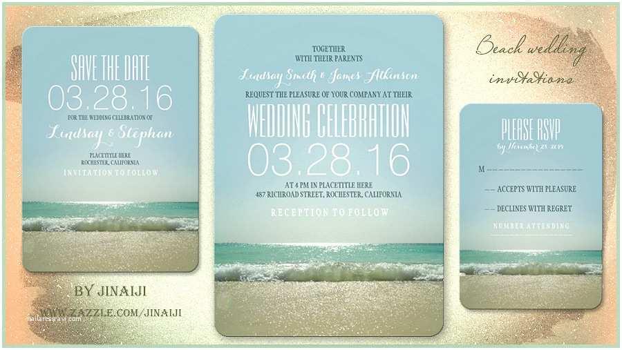 Wedding Invitation Templates Beach theme Wedding Invitation Wording Etiquette Beach Wedding