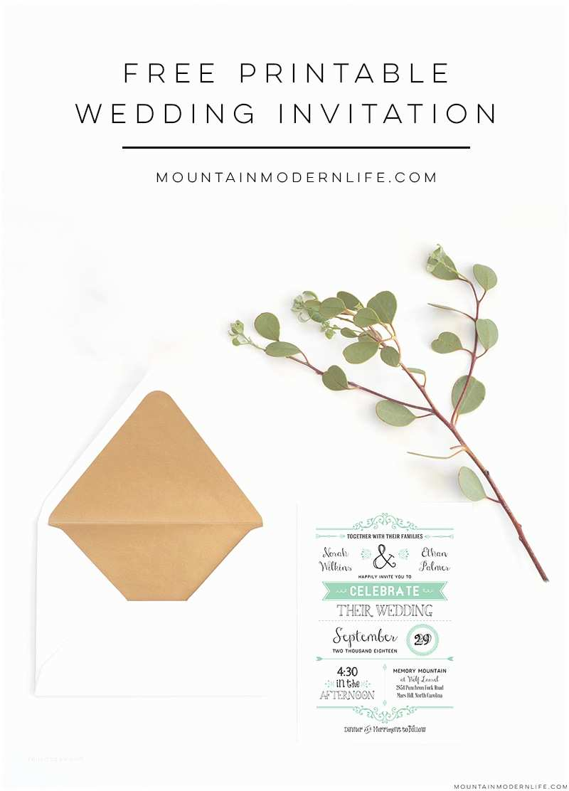 Wedding Invitation Templates Free Wedding Invitation Template
