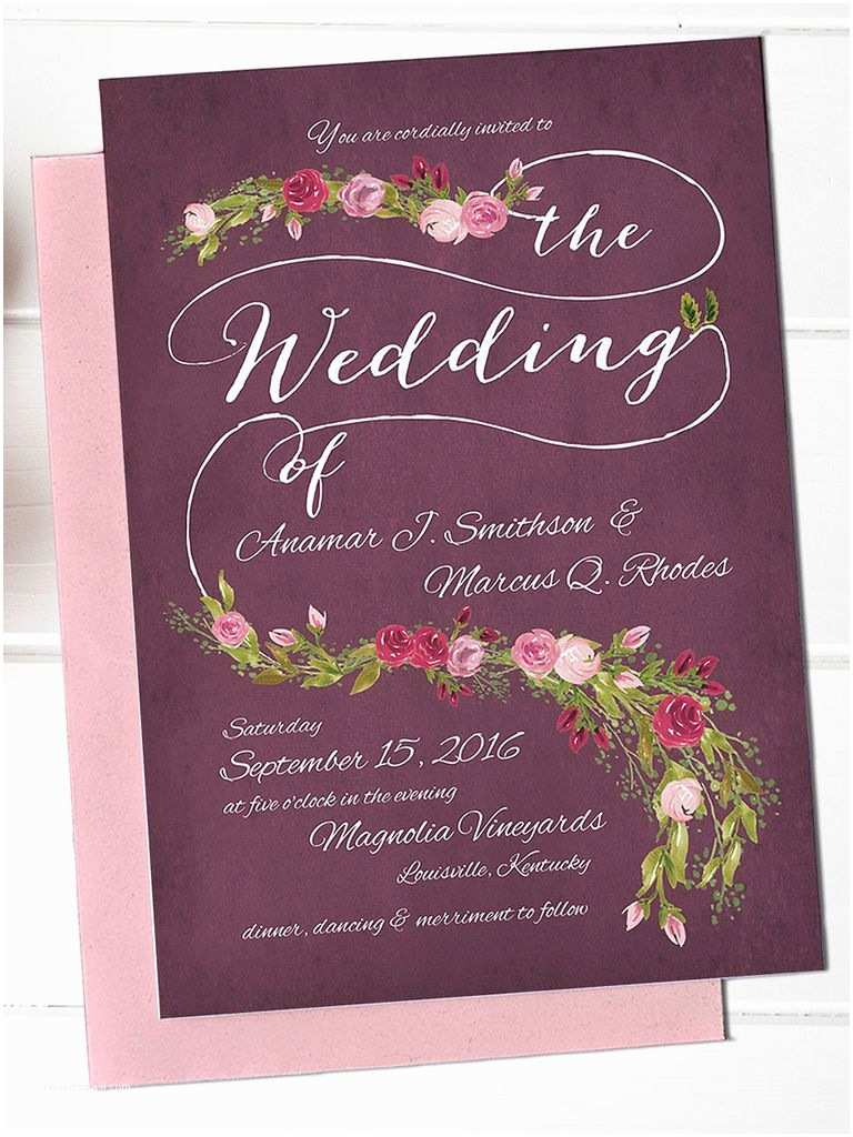 Wedding Invitation Templates Online 16 Printable Wedding Invitation Templates You Can Diy