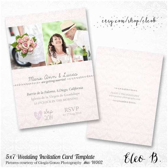 Wedding Invitation Templates Photoshop 5x7 Wedding Invitation Template Shop Wedding