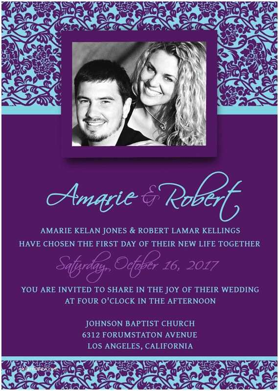 Wedding Invitation Templates Photoshop Printable Wedding Invitation Template Psd by Scripturewallart